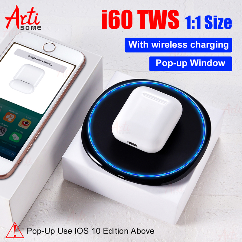 i60 TWS Original 11 Size Pop-up Wireless Headphones Air Bluetooth Earphone PK i30 i10 i12 i20 TWS Headset W1 Chip Earbuds Pods 1