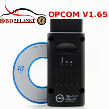 High Quality OPCOM V1.65 OBD2 OP-Com CAN-BUS Interface For OPEL Firmware V1.65 OP COM With PIC18F458 Chip Fast Shipping