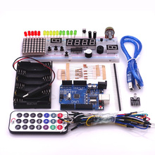 Cfsunbird Starter Kit With UNO R3 MEGA328P+830 holes Breadboard for arduino basics Drop Shipping