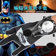 2017 Newest Spiderman Batman Action Figure Funny Glove Launchers Hulk Iron Man Toys Cosplay Kids Gifts With Original Box