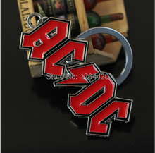 New Design AC/DC Band Letter Logo Keychain Accessory High Quality Alloy Key Chain For Women/Men's Gifts Size7*3cm