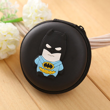 Cartoon Anime Silicone Coin Purse Black Batman Superman Ironman Spiderman Captain America Revenge Hero EVA Rubber Mini Wallets(China)