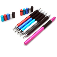 100pcs 2 in 1 Mutilfuction Fine Point Round Thin Tip Touch Screen Pen Capacitive Stylus For iPad iPhone All Mobile Phones Tablet(China)