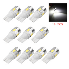 Car-styling 10 pcs T10 W5W 194 SMD Error Free LED Wedge Light Side Bulb for Car Tail Light Parking Dome Door Map Car Led Light