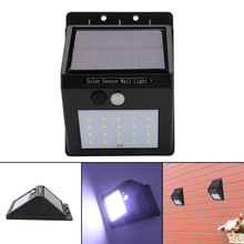 1pcs 20 Leds Outdoor Waterproof Wall Light Solar Sensor Energy Saving Security Lamp For Garden Courtyard Corridor Driveway AL