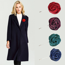 2017 New Big Rose Flower Elegant Sweater Coat Brooches Brooch Pins For Girl Women Europe And United States Style Fashion Jewelry