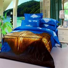 3D Scenic Bluesky Louvre Museum Paris France Bedding Set 4pcs Queen Size Bedclothes Duvet Covers Bed Sheet Bedroom Textiles set