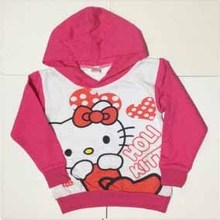 2017 Kids Hoodies Kitty KT Cat cartoon long-sleeved girls t-shirt casual sweater hoodies girls clothes baby girl clothes