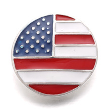 Buy 10pcs/lot Metal American Flag Snaps Button Fit 18mm Snap Bracelet Xinnver Snap DIY Jewelry ZA237 for $3.78 in AliExpress store