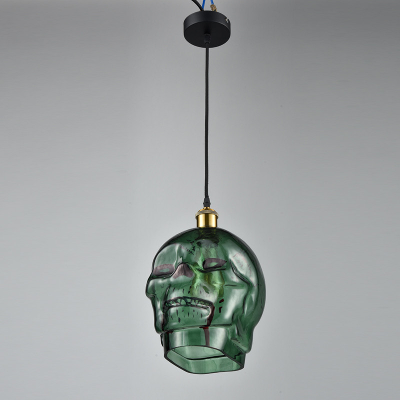 Free ShippiFree Shipping Modern Creative Skull Glass Pendant Light Lamp Green Color Ceiling Fixtures Bar Hanging Lighting<br><br>Aliexpress
