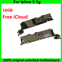 Tested Good Working Original Factory Unlock 16GB Motherboard for iPhone 5 5g Mainboard for iPhone5 phone Logic Board IOS system(China)