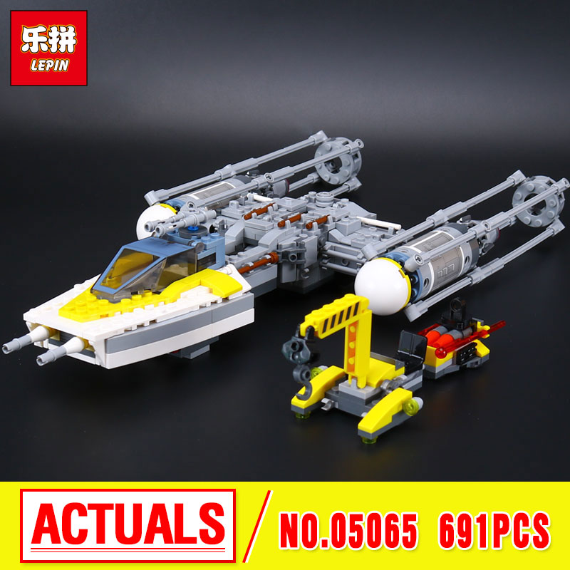 Lepin 05065 New 691Pcs Genuine Star Series The Y-Starfighter wing  Set Building Blocks Bricks Educational Toys Gift 75172  War <br>