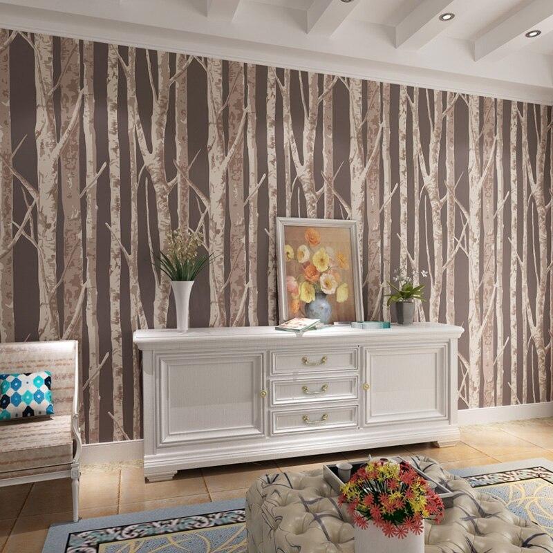 beibehang  Landscape Study Room Non - Woven Wallpaper 3D Simple Modern Living Room Plain Bedroom Background Wallpaper<br>