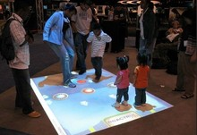 DefiLabs Interactive floor projection system and 130 EFFECTS, 3D interactive projection display system,