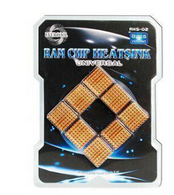 8pcs/set Evercool RHS-02 RAM Memory South Bridge North Bridge Chip Chipset Cooler HeatSink Heat Sink Copper Plated