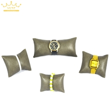 High Quality Coffee PU Leatherette Jewelry Display Watch Holder Bracelet&Bangle Pillow Watch Box Pillow