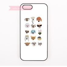 cute animals face with sunglasses Hard Back Cover Phone Case For iphone 4s 5 5s 5c se 6 6S 7 Plus iPod Touch cases Minimalist