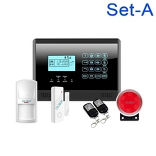 LCD Keypad Wireless Home Alarm GSM Touch Security System Smart House Alarm GSM2E(China)