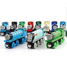 1pc Wooden Toy Vehicles Thomas and His Friends Wood Trains Model Toy Magnetic Train Great Kids Toys Gifts for Boys Girls 2017