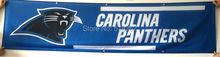 Carolina Panthers Banner 2x8FT 60x240CM NFL Flag 100D Polyester grommets Custom6038,free shipping(China)
