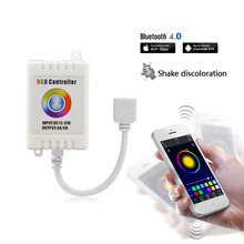 DC12V Bluetooth LED RGB Strip Light Controller Wireless Control For Android 4.3 or IOS 6.0 Mobile Phone Music/Shake Color Change