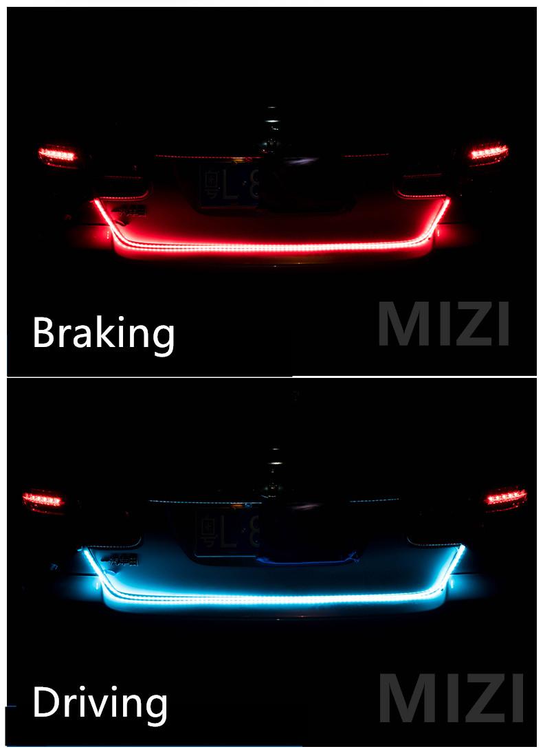 Car-styling DRL LEDs Daytime Running Light Strip Trunk Light with Side Turn Signals Rear lights Car Braking Light For BMW 3