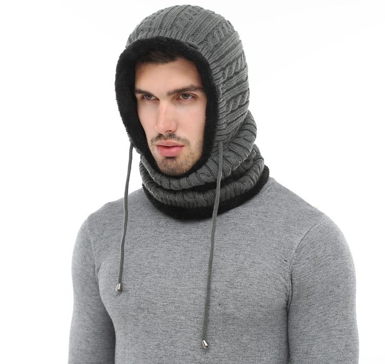 قبعة و وشاح رجالي دافئ 4