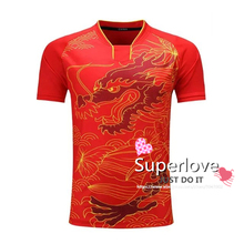 Kids/Women/Children Summer Sports Dragon Badminton/Table Tennis Shirt Training Jersey/Clothes/Tops/Tees For Boys/Girls/Mujer