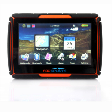 2016 New! 256 RAM 8GB Flash 4.3 inch GPS Moto Navigation FM GPS Navigator para Moto GPS Waterproof Motorcycle Tracker Free Maps
