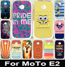 AKABEILA Soft TPU Hard Plastic Mobile Phone Case For Motorola Moto E2 E 2nd Gen Cover E+1 XT1527 XT1511 Hood SpongeBob Paint