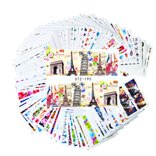 100Sheets Mixed Flower Cartoon Design Nail Decals Nail Art Water Transfer Sticker Polish Wraps Beauty Accessories LASTZ134-233