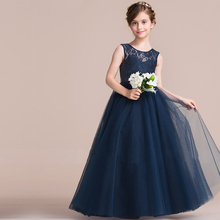 2017 Teenage Girls Kids Prom Dress Evening Formal Gown Girls Clothes Flower Wedding Dress Summer Party Dress For Girl Ceremony