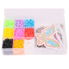 2017 New Pearl 1600 Perler beads Hama Beads 9 Colors  Fuse Beads Jigsaw Puzzle Educational Toys Diy Kids Festival Gift 678533