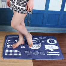 Bathroom Mat Tea Table Bibulous Antiskid American Tableware  Farley wool, blended Household Carpet Anti-Slip Kitchen Mat E5M1