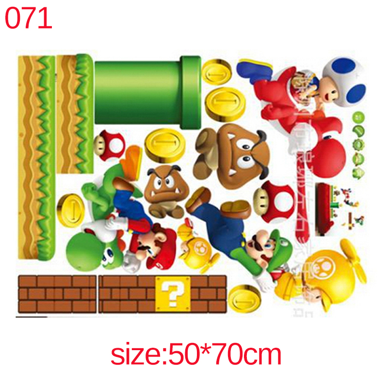HTB1HoaIfsyYBuNkSnfoq6AWgVXay Super Mario Bros Kids Removable Wall Sticker Decals Nursery Home Decor Vinyl Mural for Boy Bedroom Living Room Mural Art