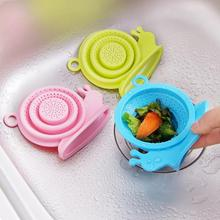 1 PC Lovely Snails Silicone Drain Cover Kitchen Sink Strainer Drain Sink Filter Pipe Deodorant Drain W50