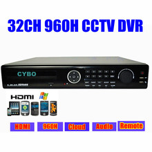 32ch cctv system H.264 real time full D1 960H Standalone DVR cloud network HDMI 1080P 32 channel DVR video surveillance recorder