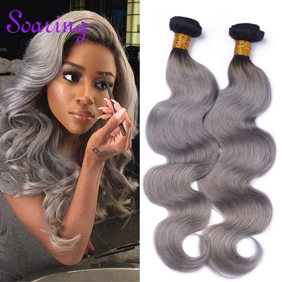 T1B/613 Virgin Brazilian Ombre Hair Body Wave 1B Black Dark Roots Gray Hair Weaving Double Sewn Ombre Brazilian Hair Bundles<br><br>Aliexpress