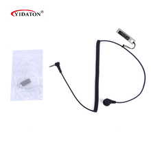 Earphone New 3.5mm Listen Receive Acoustic Tube Earpiece Covert Headset 1PIN Long Coiled Cord for Motorola PR1500 Radio