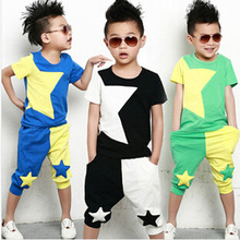Summer Baby Clothing Boys Casual Suit T-Shirt Top+Pants 2 Pcs Set Sports Kids Clothes High Quality Boy Outfit Cotton Item 2-6T(China)