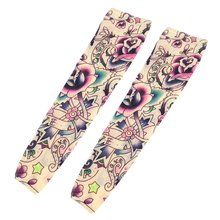 2 Pcs Star Flower Pattern Fake Tattoo Sleeve cover(China)