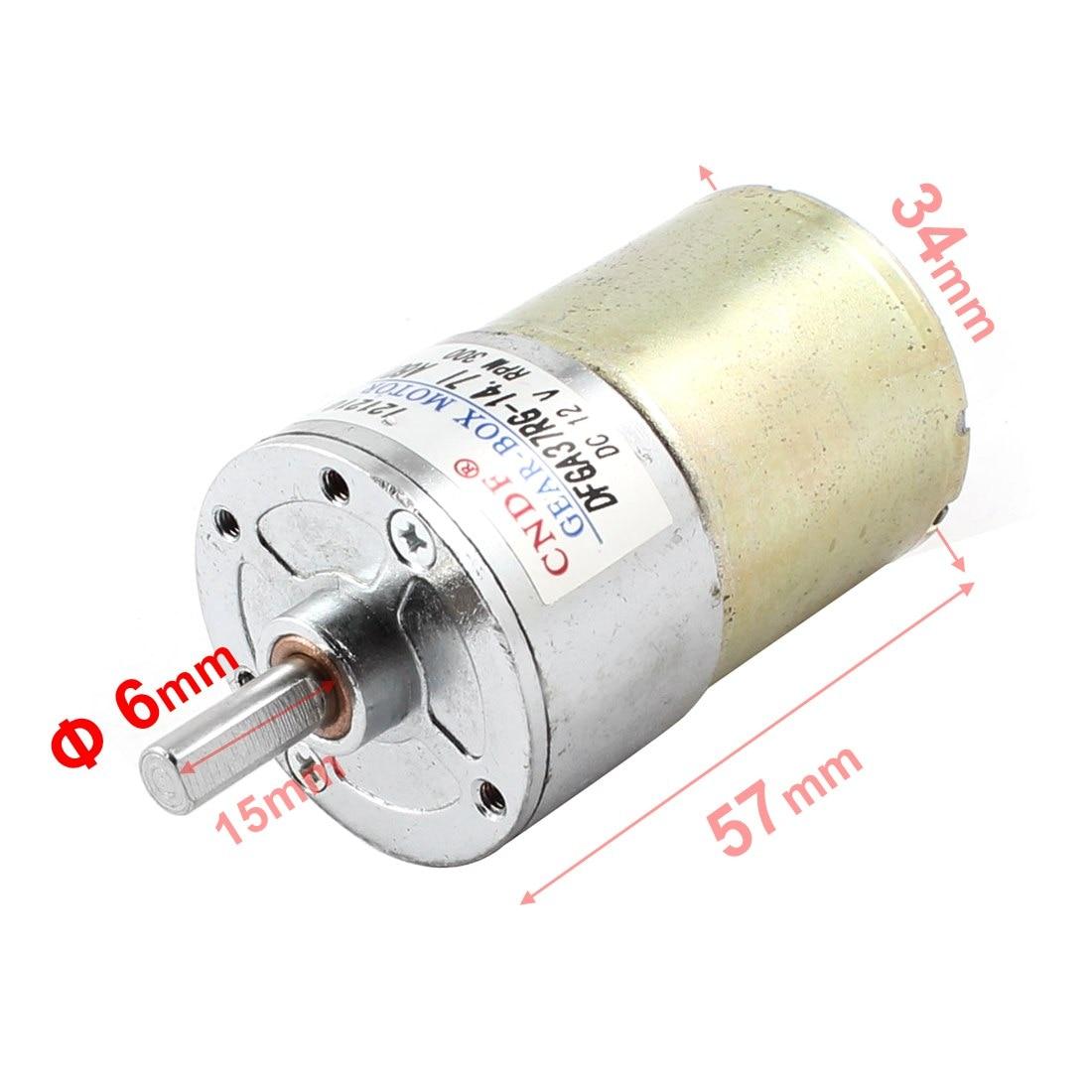 UXCELL 300Rpm 12V High Torque Electric Speed Reduce  Gear Box Motor<br><br>Aliexpress