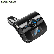 Bluetooth Kit Car FM Transmitter With 3.1A USB Charger Car MP3 Player Wireless Handsfree Support USB SD TF Card DC 12-24V