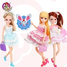 Mr.Froger Lelia Girl Doll DIY Dolls Dress Clothes BJD Synthetic Hair kits 3D Eyes Toys For Girls Kids Friends Princess Fashion(China)