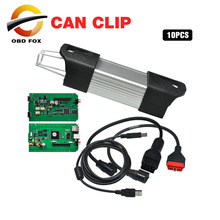 Newest Version V166 for Renault Can Clip full chip diagnostic interface Can Clip for Renault Scanner 10pcs/lot DHL free(China)