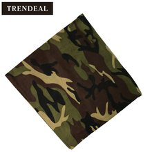 1Pack-12pcsYKB Quality Cotton Camo Printed Bandanas Scarves Men Camouflage Kerchief Print Head Bandana Scarf Wholesale(China)