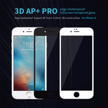 10pcs/lot Wholesale NILLKIN 3D AP+ Pro edge shatterproof fullscreen tempered glass Screen Protector For Apple iphone 6s iphone 6