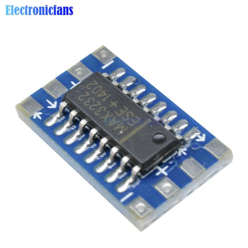 10Pcs Mini RS232 To Ttl Converter Module Board Adapter MAX3232CSE 120Kbps 3-5 yk