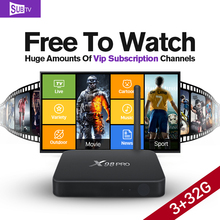 Android 6.0 Smart IPTV Set Top Box Amlogic S912 Octa Core 3G 32G 3500+ Europe Afirca Arabic UK USA French IPTV Channel Optional