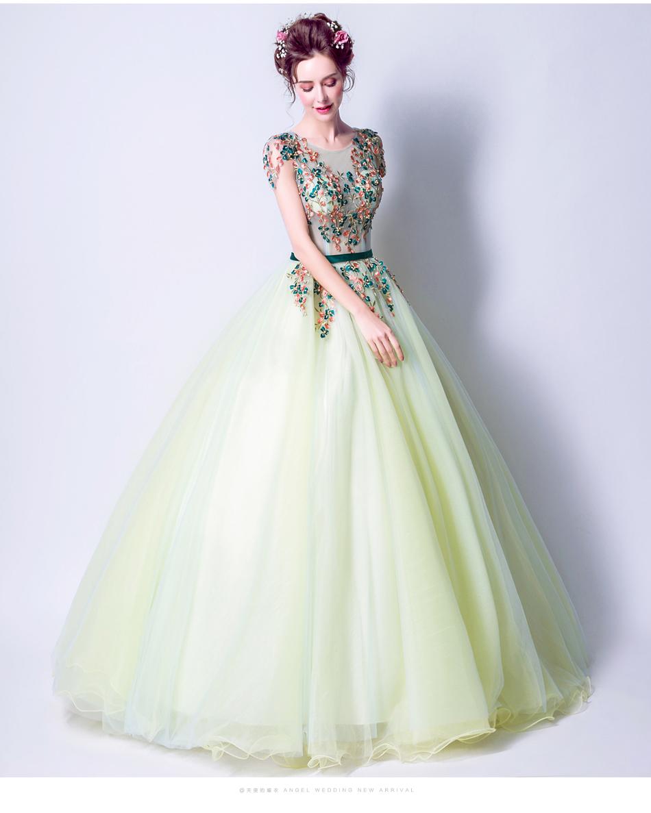 Angel Wedding Dress Marriage Bride Bridal Gown Vestido De Noiva 2017 Green, embroidery, the wizard of Oz 2217 14